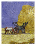 Oxen and Cart in the Shade  from La M&#233;ridienne Ou La Sieste  Siesta at Noon