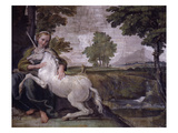 Unicorn  from Loves of the Gods Frescos  Carracci Gallery  Palazzo Farnese  Rome  Italy