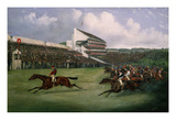 Finish of the Derby in 1865 (Won by Gladiator  Owned by the Count of Legrange)