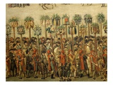 Guilds  from Great Procession in Lille  France  1780 (Detail)