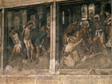 Flagellation of Christ  and Ecce Homo  from Frescos Showing Passion Scenes  15th Century Gothic