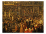 Coronation of Louis XV  1710-74 King of France  Archiepiscopal Palace  Reims  France