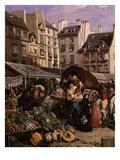 Le Marché Et La Fontaine Des Innocents À Paris (Market and Fountain of the