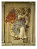 Angel Gabriel of the Annunciation  Fresco  Library