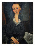 Lunia Czechowska (Woman with White Collar)  1917