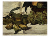 Nature Morte  Fruits Sur Une Table  Still Life with Fruit  Grapes  Peaches and Almonds  1864