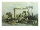 Temple  Baalbek  Lebanon  1839 Watercolour