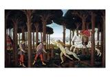 The Story of Nastagio Degli Onesti (First Episode)  1483 (From Boccaccio's Decameron)