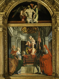 Madonna and Child with Saints (Including Christina of Bolsena  3rd Century Virgin and Martyr)  1507