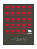 Eames Red Rocking Chair Poster