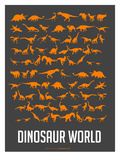 Dinosaur Poster Orange
