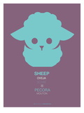 Green Sheep Multilingual Poster