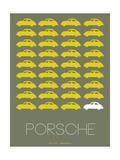 Porsche Yellow Poster