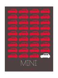 Red Mini Cooper Poster