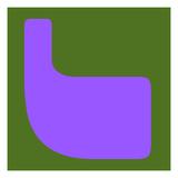 Letter L Purple