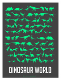 Dinosaur Poster Green