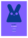Purple Rabbit Multilingual Poster