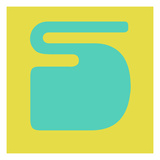 Letter S Blue and Yellow