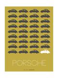 Porsche Grey Poster