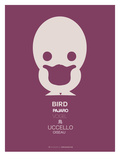 Purple Bird Multilingual Poster