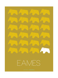 Eames Yellow Elephant Poster