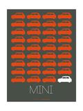 Orange Mini Cooper Poster
