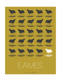 Eames Grey Rocking Chair Poster