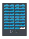 Blue Mini Cooper Poster