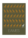 Eames Chair Yellow Poster