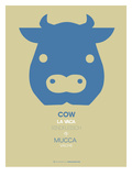 Blue Cow Multilingual Poster