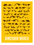 Dinosaur Poster Yellow