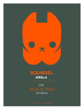 Orange Squirrel Multilingual Poster