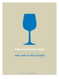 Wine Poster Blue