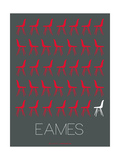 Eames Chair Red Poster