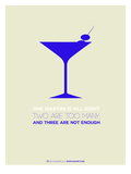 Martini Poster Blue