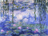 Nymphéas, vers 1916 Reproduction d'art par Claude Monet