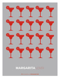 Red Margaritas Grey Poster
