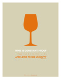 Wine Poster Orange