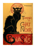 Chat Noir Reproduction d'art par Théophile Alexandre Steinlen