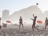 Beach Soccer or Football  Copacabana Beach  Copacabana  Rio De Janeiro  Brazil