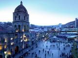 Iglesia San Francisco  Baroque Architecture  18 Century  Plaza San Francisco  La Paz  Bolivia