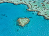 Aerial View of Heart Reef  Part of Great Barrier Reef  Queensland  Australia