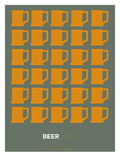 Yellow Beer Mugs Poster