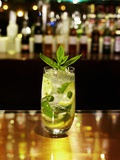 A Glass of Mojito on a Bar