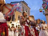 Christmas Procession and Carnival  Pelourinho  Salvador  Bahia  Brazil