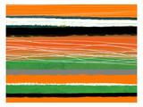 Orange and Green Abstract 3