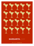 Yellow Margaritas Brown Poster