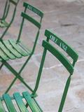 France  Corsica  Corse-Du-Sud Department    Bonifacio  Cafe Chairs