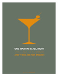 Martini Poster Yellow