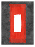 Grey and Red Abstract 4